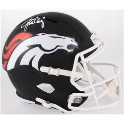 John Elway Signed Broncos Full-Size Custom Matte Black Speed Helmet (JSA COA)