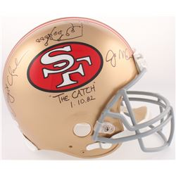 "Dwight Clark  Joe Montana Signed 49ers Full-Size Authentic On-Field Helmet Inscribed ""The Catch""  ""1"