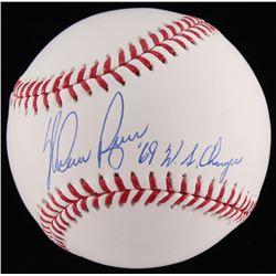 """Nolan Ryan Signed OML Baseball Inscribed """"'69 W.S. Champs"""" (JSA COA  Ryan Hologram)"""
