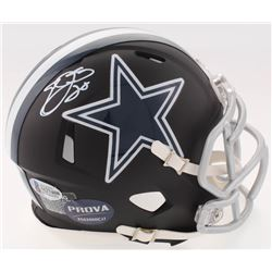 Emmitt Smith Signed Cowboys Custom Matte Black Speed Mini-Helmet (Beckett COA  Prova COA)