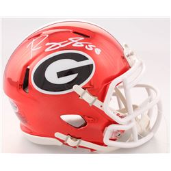 Roquan Smith Signed Georgia Bulldogs Speed Mini Helmet (Beckett COA)