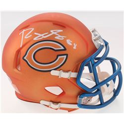 Roquan Smith Signed Bears Blaze Speed Mini Helmet (Beckett COA)