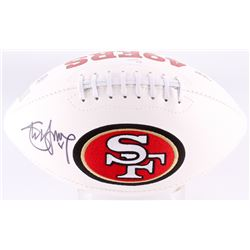 Steve Young Signed 49ers Logo Football (JSA COA  Young Hologram)