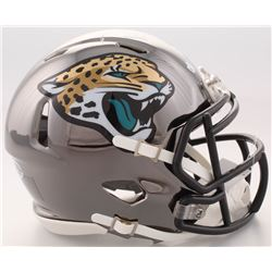 Mark Brunell Signed Jaguars Chrome Speed Mini Helmet (Beckett COA)