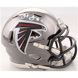 Julio Jones Signed Falcons Chrome Speed Mini-Helmet (JSA COA)