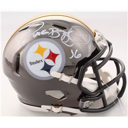 Jerome Bettis Signed Steelers Chrome Speed Mini Helmet (Beckett COA)