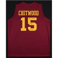 "Maris Valainis Signed ""Hoosiers"" Hickory Huskers Jersey Inscribed ""Jimmy Chitwood""  ""I'll Make It"" ("