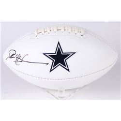 Deion Sanders Signed Cowboys Logo Football (Beckett COA)