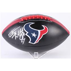 JJ Watt Signed Texans Logo Football (JSA COA  Watt Hologram)