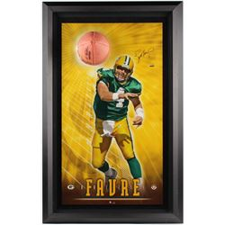 "Brett Favre Signed Packers ""Breaking Through"" 27.5x43.5 Custom Framed LE Photo Display (UDA COA)"