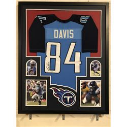 Corey Davis Signed Titans 34x42 Custom Framed Jersey (JSA COA)