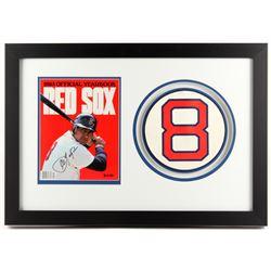 Carl Yastrzemski Signed Red Sox 18.5x26 Custom Framed 1983 Yearbook Display (JSA COA)