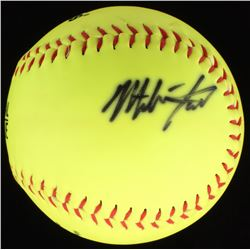Mike Trout Signed Adidas OL Softball (JSA LOA)