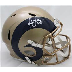 Marshall Faulk Signed Rams Full-Size Blaze Speed Helmet (JSA COA)