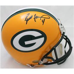 Brett Favre Signed Packers Full-Size Authentic On-Field Helmet (Favre Hologram)
