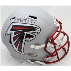 Tony Gonzalez Signed Falcons Full-Size Blaze Speed Helmet (JSA COA)