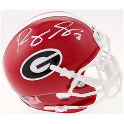 Roquan Smith Signed Georgia Bulldogs Mini Helmet (Beckett COA)