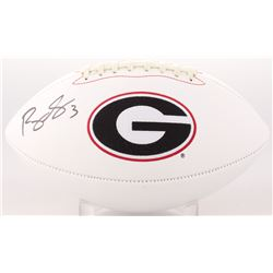 Roquan Smith Signed Georgia Bulldogs Logo Football (Beckett COA)