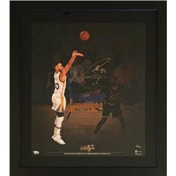 Stephen Curry Signed 2017 NBA Champions Warriors 24x28 Custom Framed Limited Edition Photo Display (
