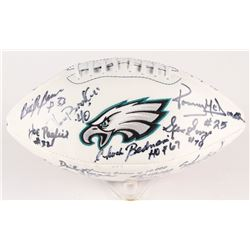 1960 Eagles Logo Football Team-Signed by (19) with Tommy McDonald, Bobby Jackson, Chuck Bednarik, Ge