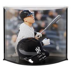 "Aaron Judge Signed Yankees Full-Size Batting Helmet Inscribed ""AL ROY"" with Custom Acrylic Curve Dis"