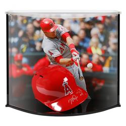 """Mike Trout Signed LE Angels Authentic Full-Size Batting Helmet Inscribed """"'14/'16 MVP"""" with Custom A"""