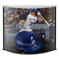 "Cody Bellinger Signed LE Dodgers Full-Size Batting Helmet Inscribed ""'2017 MVP"" with Custom Acrylic"