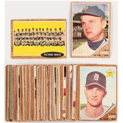 Lot of (42) 1962 Topps Baseball Cards with #478 Don Zimmer and #476 Baltimore Orioles Team Card