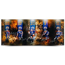 "Edmonton Oilers ""Reunion"" 15x36 Limited Edition Photo Signed By (5) With Wayne Gretzky, Jari Kurri,"