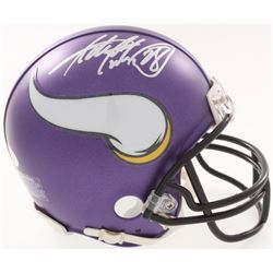 Adrian Peterson Signed Vikings Mini Helmet (JSA COA  Fanatics Hologram)