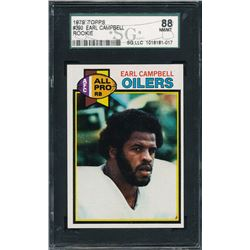 1979 Topps #390 Earl Campbell RC (SGC 8)