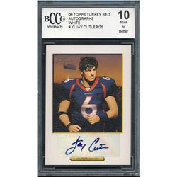 2006 Topps Turkey Red Autographs White #JC Jay Cutler / 25 (BCCG 10)