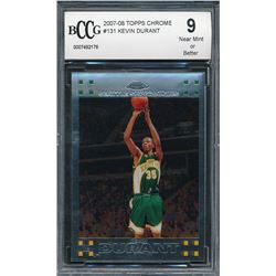 2007-08 Topps Chrome #131 Kevin Durant RC (BCCG 9)