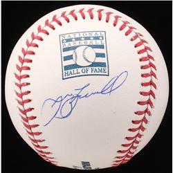 Jeff Bagwell Signed Hall of Fame Logo OML Baseball (JSA COA)