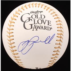 Jeff Bagwell Signed Gold Glove Award Baseball (JSA COA)