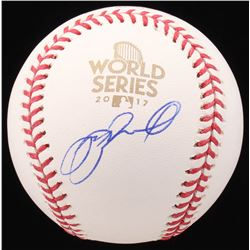 Jeff Bagwell Signed 2017 World Series Logo Baseball (JSA COA)