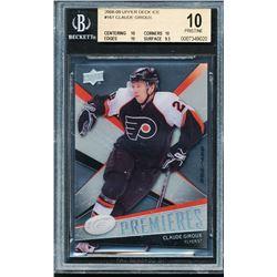 2008-09 Upper Deck Ice #161 Claude Giroux RC (BGS 10)