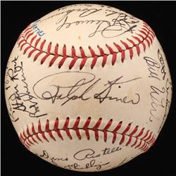 1949 Pirates ONL Baseball Team-Signed by (26) with Ralph Kiner, Honus Wagner, Dixie Walker, Murry Di