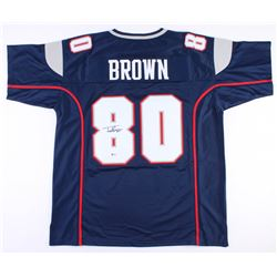 Troy Brown Signed Patriots Jersey (Beckett COA)