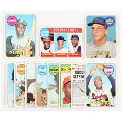 Lot of (11) 1969 Topps Baseball Cards with #50 Roberto Clemente, #480 Tom Seaver, #8 NL ERA Leaders