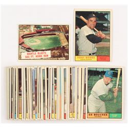 Lot of (42) 1961 Topps Baseball Cards with #406 Mickey Mantle 565 HR, #425 Yogi Berra