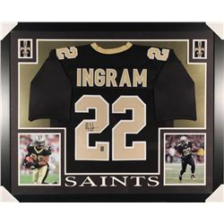 Mark Ingram Signed Saints 35x43 Custom Framed Jersey (Ingram Hologram)