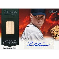 2014 Classics October Heroes Materials Combos Signatures #30 Tom Glavine / 10