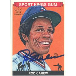 Rod Carew Signed LE 2012 Sportkings #216 (Leaf COA)