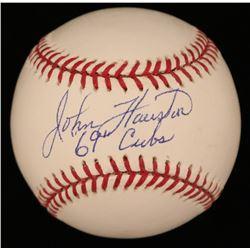 "John Hairston Signed OML Baseball Inscribed ""69 Cubs"" (JSA COA)"