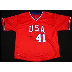 Mark McGwire Signed Team USA Jersey (Online Authentics Hologram)
