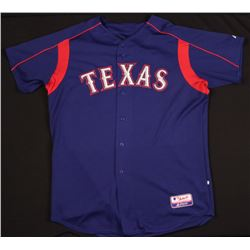 Mark Teixeira Rangers Majestic Game-Used Jersey (Mears LOO)
