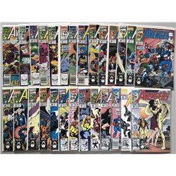 Lot of (48) 1990-1993 Marvel Avengers 1st Series Comic Books