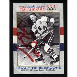 Herb Brooks Signed 1991 Impel U.S. Olympic Hall of Fame #72 (Beckett COA)