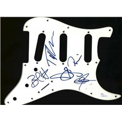 Blues Traveler Electric Guitar Pickguard Signed by (5) with John Popper, Brendan Hill, Tad Kinchla,